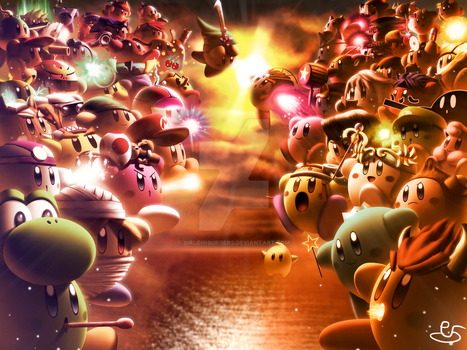 War of the Kirbies by SirloinBurgers