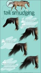 tail smudging tutorial by NEONxTEAL