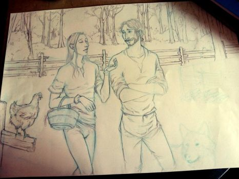 The Fool and fitz_39_WIP by MartAiConan
