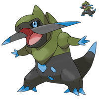 Pokemon 5G Shiny Fraxure by etherspear