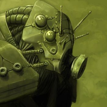 Gas Mask Robot-Bug by Lizzy-John