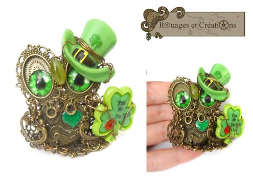 Aengus, steampunk irish owl by Rouages-et-Creations