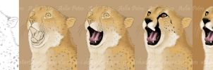 Little Cheetah Little Yawn WIP by Chaotica-I