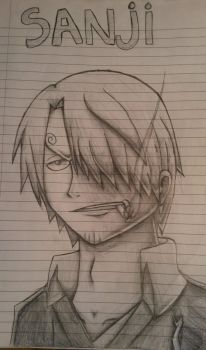 One Piece: Sanji Sketch by ShadowWhisper446