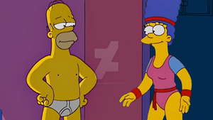 Homero y Marge by oscarcajilima