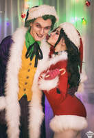 Harley Quinn and Joker (Christmas version) 16 by ThePuddins