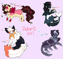 [closed] adoptables by DragonsPurr