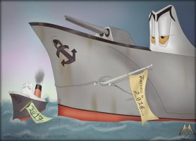 Old Father Time and Baby New Year by RMS-OLYMPIC