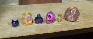 Purple Skull And Flower Box Potion Bottles by Kyle-Lefort