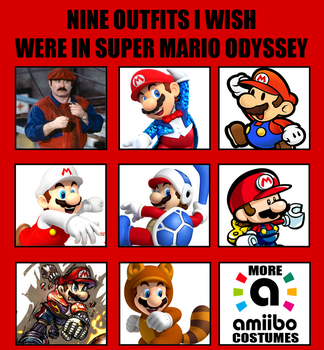 Nine outfits I wish were in Super Mario Odyssey by Death-Driver-5000