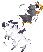Cervowl Adopts : Arctic Pair [CLOSED] by LastNight-Light