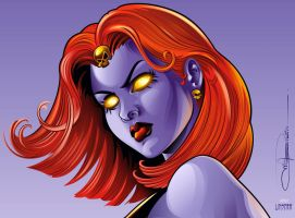 mystique face by cd-marcus