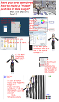 mmd screen/mirror tutorial by Tehrainbowllama