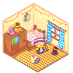 Commission Mini chibi Room aliraluna1 by LaKirly