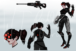 Blackwatch Amelie - WIP by allisonneal