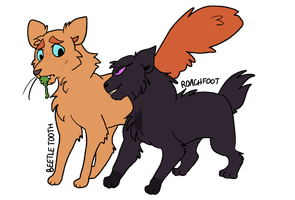 2 Warrior Cat OCs by ComicSavagery