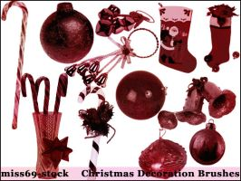 Christmas decoration brushes by miss69-stock