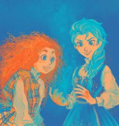colour palette challenge - Merida And Elsa by Sildesalaten