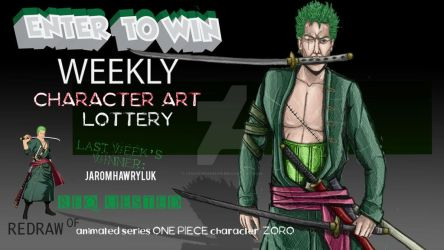 WEEKLY CHARACTER ART LOTTERY: OnePiece Zorro by ChaosShannon
