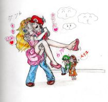 -mario and peach forever- by magicalmoon20