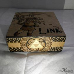 Link - Zelda Pyrography / woodburning Work In Prog by dcmorais