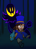 A Hat in Time -Hat Kid and the Snatcher by Silvarebel