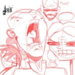 Obligatory weird faces by TheArtrix