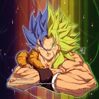GOGETA and BROLY   PIN commission by marvelmania