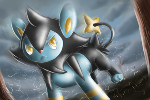 Luxio - Shining Forest Art