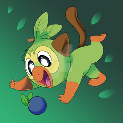 Grookey by Dragonfoxgirl