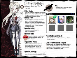 Marah Bloodstone Bio by Amythest621
