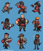 TF2 RED Team by lunajile