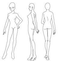 Female body form set by purenightshade