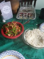 Teriyaki Chicken with vegetables and rice by Ghostly-Host