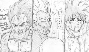 Vegeta Android 13 and Goku by ViperXTR