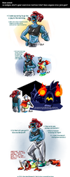 Undertale ask blog: exercise by neonUFO