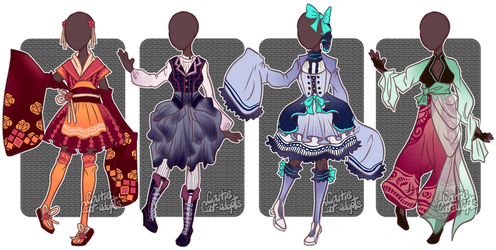 [CLOSED] Outfit Adopts by caitiecat-adopts