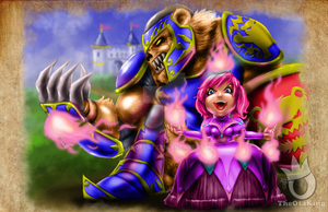 Princess Annie and Tibbers the Knight by sykoeent