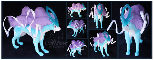 Suicune Custom Plush by Nazegoreng