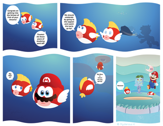 Mario is a little Fishy by Humdeedum233