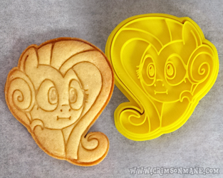 MLP Fluttershy ~ We Got Two Cakes ~ Cookie Cutter by Crimson-Mane