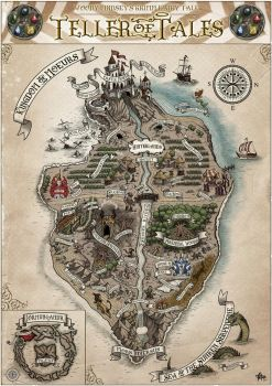 World map: TELLER OF TALES by FranciscoETCHART