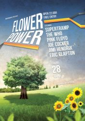 Music Flyer Vol.8 - Flower Power by isoarts2