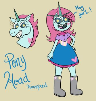 Pony Head Humanized by knuckleheadedhero
