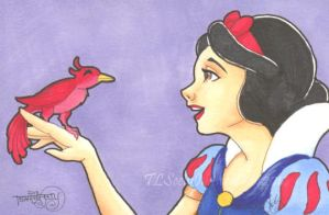 Sketch Card: Snow White by TLSeely