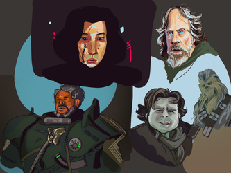 Star Wars caricatures by Just-a-drawing-Cat