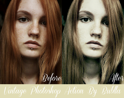 Vintage Photoshop Action by Bublla