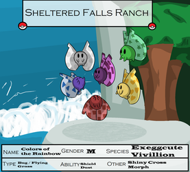 Sheltered Falls -Colors of the Rainbow- by Apricotthevixen