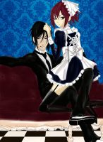His Naughty Butler - Sebastian and Mei Rin by LibertyBella