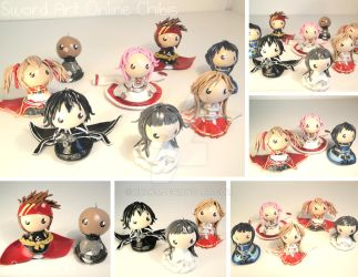 Sword Art Online Chibis by xRcks
